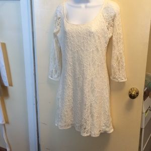 Abercrombie &Fitch lace dress. Size L cream